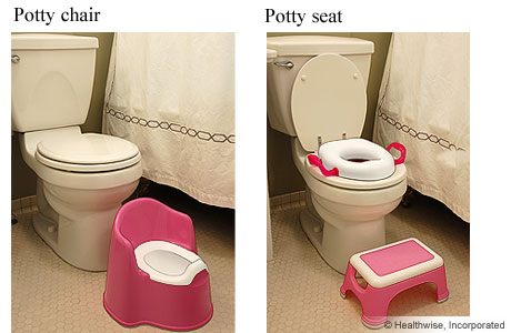 Two kinds of toilet seats for toddlers