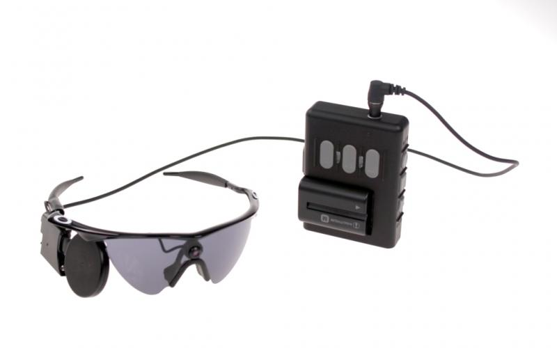 Glasses, camera, antenna and video processing unit