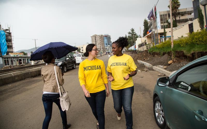 Michigan students in Ethiopia