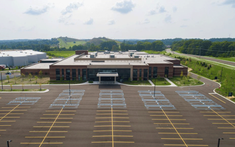 An aerial view of the new Brighton Center for Specialty Care