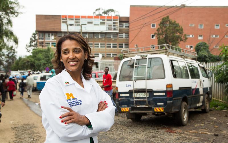 Dr. Fisseha in Ethiopia