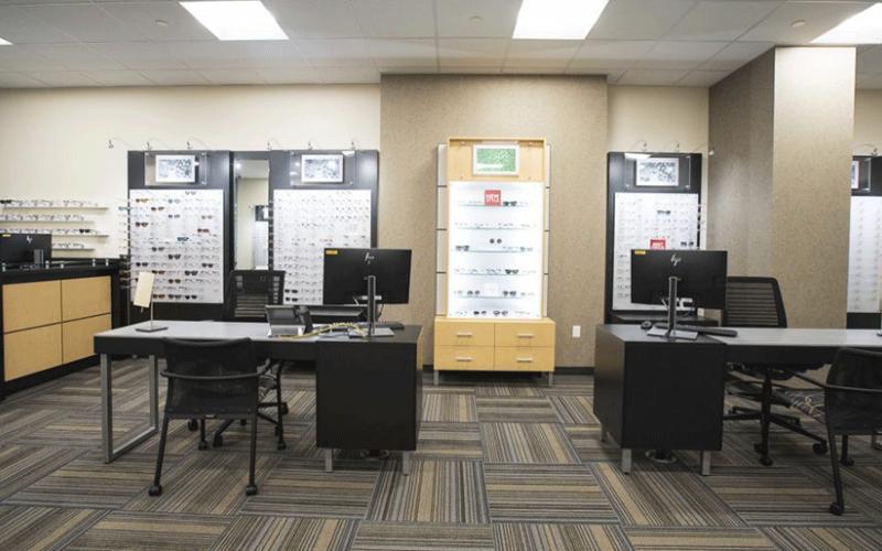 Kellogg Eye Center optical shop at BCSC