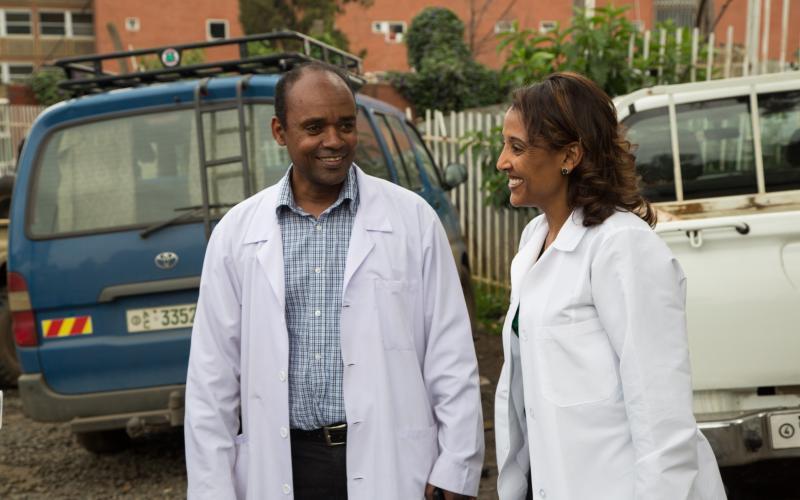Dr. Fisseha at St. Paul's Hospital Millennium Medical College
