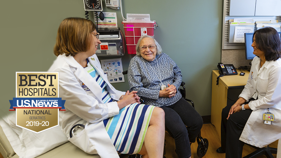 Michigan Medicine has been ranked among the top hospitals in the nation and #1 in Michigan for Geriatrics by U.S. News and World Report for 2019-2020.
