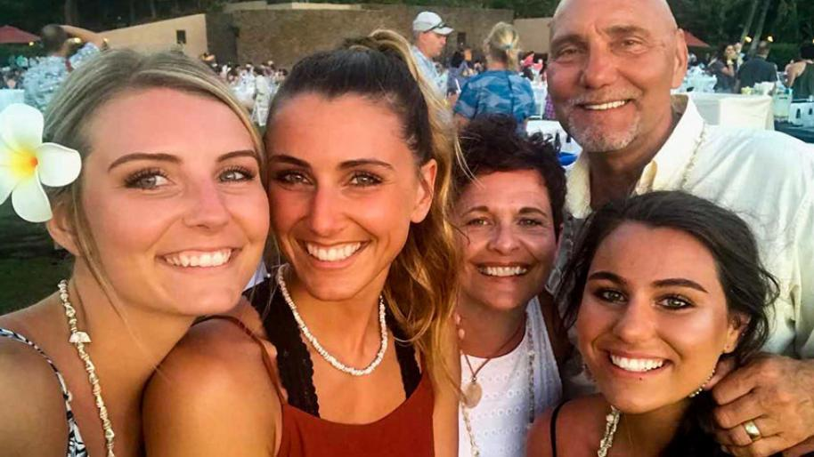 Paul DeWyse  with daughters (l to r) Megan, 23, Afton, 25, wife Marci and daughter Molly, 20.
