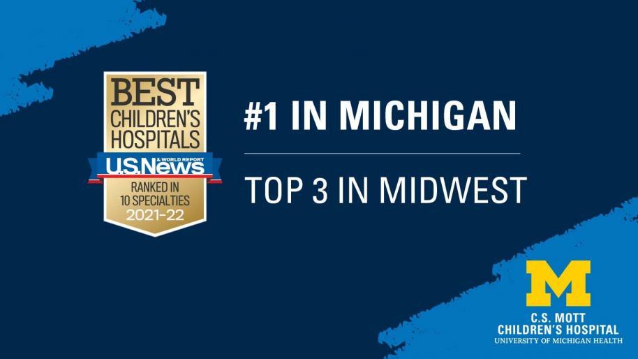 Mott Rankings 2021-22 Best Children's Hospitals