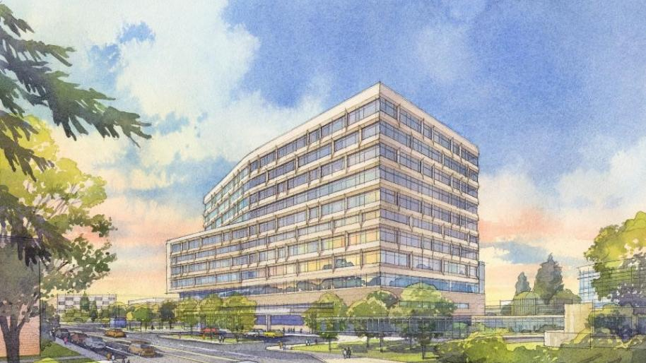 Rendering of 12-story adult inpatient hospital