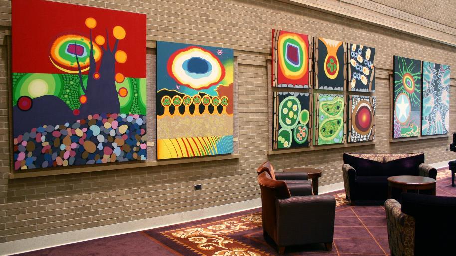 Gift of Art Display of artwork in U Hospital lobby