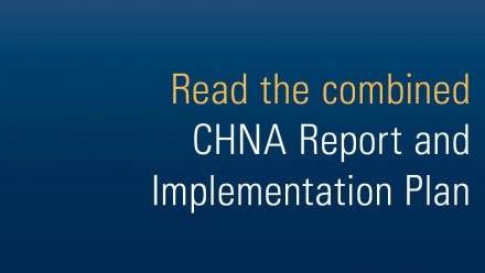 Read the combined CHNA report and implementation plan