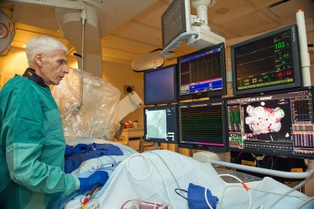 Dr. Fred Morady performing cardiac ablation