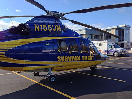 Survival Flight and Livingston County EMS at new base