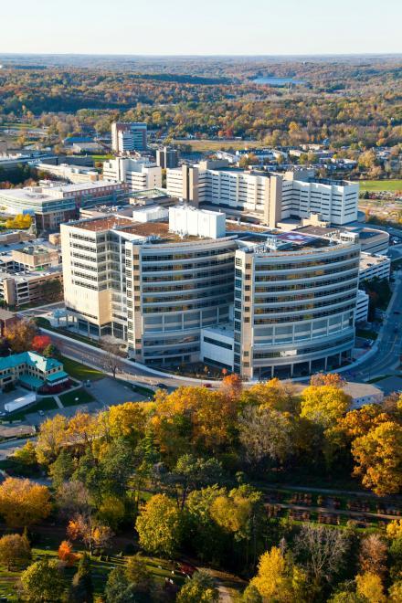 C.S. Mott Children's Hospital aerial shot