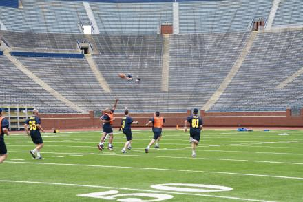 The Men's Football Experience is open to Michigan fans across the country. Proceeds generated from this event are used to provide seed grants and infrastructure for prostate cancer research.