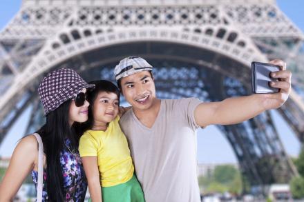 Parents taking selfies