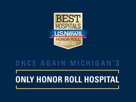 USNews and World Report 20-21 hospital ranking badge