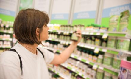 Women shopping in drugstore