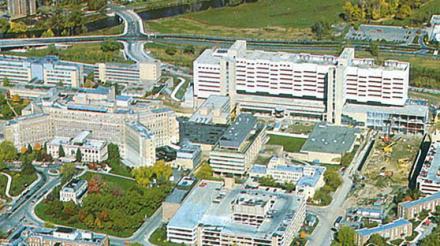 Old Main and University Hospital 1980s