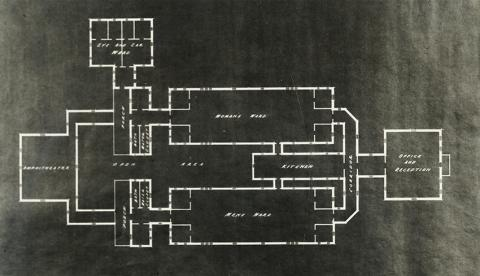 1875 floor plan original hospital and addition