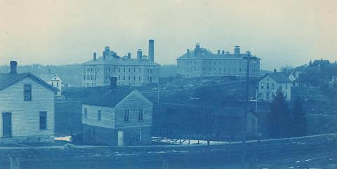 1891 catherine st hospitals taken from Cornwell Place