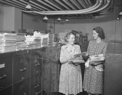 1934 hospital records room