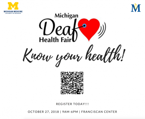 2018 Deaf health fair October 27, 2018 franciscan center 9am to 6pm