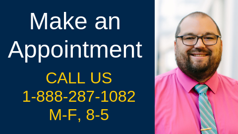 Make an Appointment at 1-888-287-1082, M-F, 8-5 or click to go to Make a Cardiovascular Appointment page