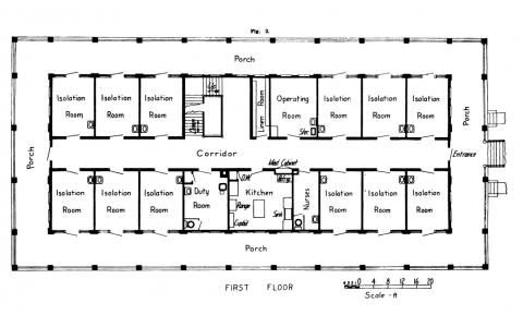 Contagious Hospital floor plan