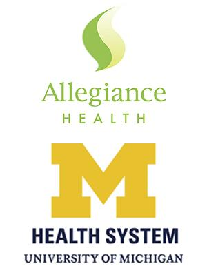 Allegiance Health and UMHS logos stacked vertically