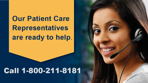 Make an Appointment by calling 1-800-211-8181