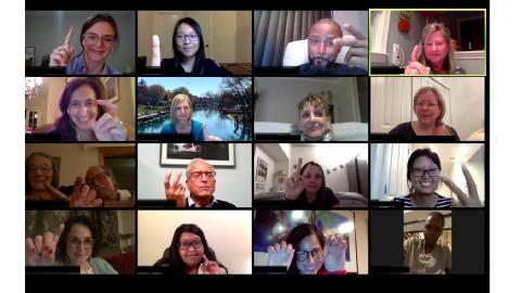 Peer Mentor Group Zoom meeting image
