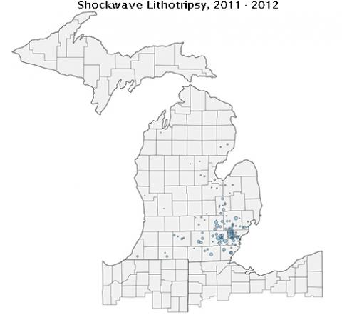 Shock Wave Zip code Map