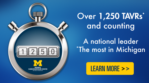 Over 1,500 TAVRs and counting: a national leader & the most in Michigan. Click to learn more about TAVR