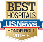 Best Hospitals - US New & World Report Honor Roll 2017-2018 badge