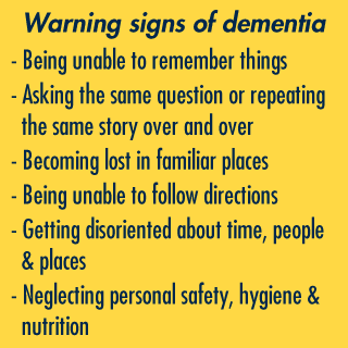 Dementia signs
