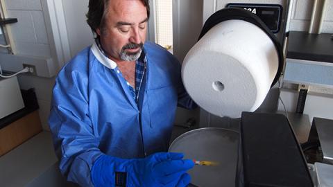 Gary Smith opens stem cell freezer