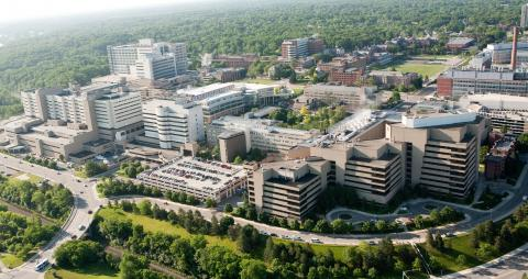 Aerial photo of U-M Medical Campus