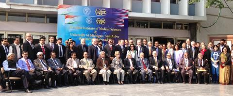 U-M AIIMS delegation