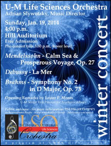 Life Sciences Orchestra Jan. 14 poster