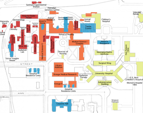 Map of medical campus