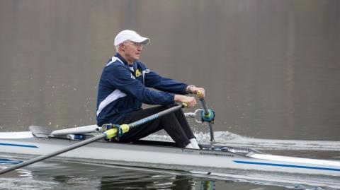 Dr. Montie-rowing