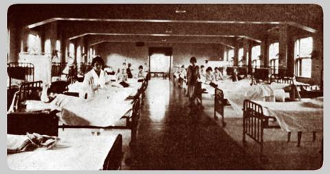 """Hospital ward, 1925 """"Old Main"""" hospital"""