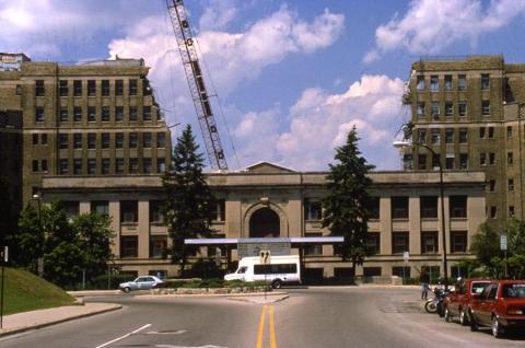 Old Main demolition 1989