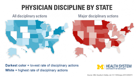 Physician Discipline maps