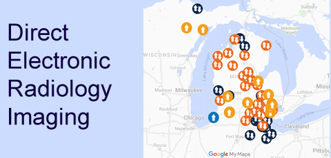 Map of Direct Electronic Radiology Imaging