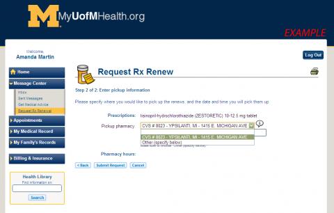 Image of Prescription Renewal Website