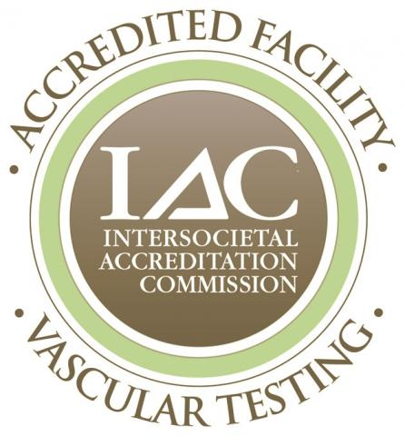 IAC logo: IAC Intersocietal Accreditation Commission - Accredited Facility Vascular Testing