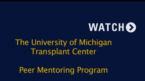 Transplant Center Peer Mentors Program