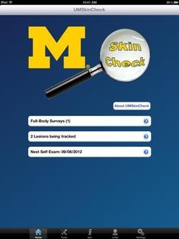 U-M Skin Check screen shot