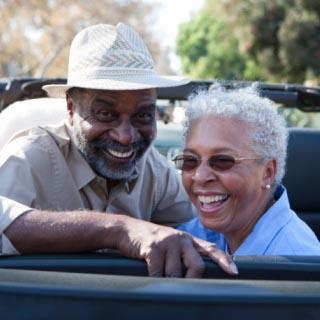 Older couple laughing, dementia, Alzheimer's