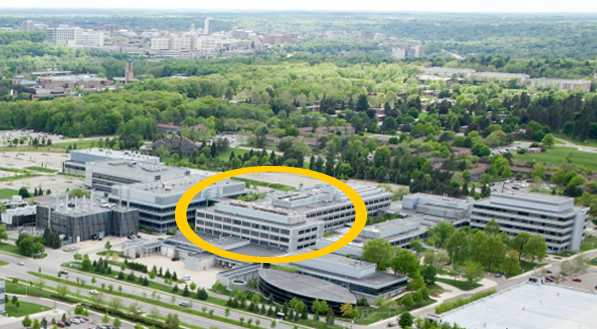 NCRC with Bldg. 25 and 20E circled